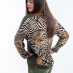SEMPERLEI- Pullover im Zebralook